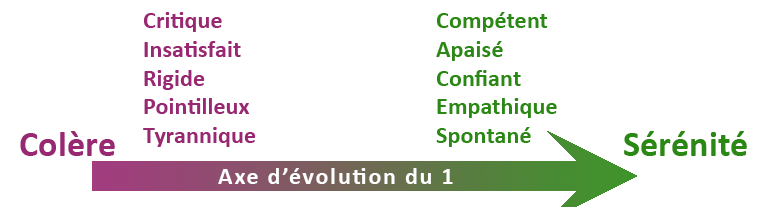 Axe d'évolution ennéagramme 1