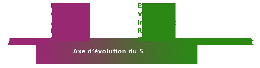 Axe d'évolution ennéagramme 5